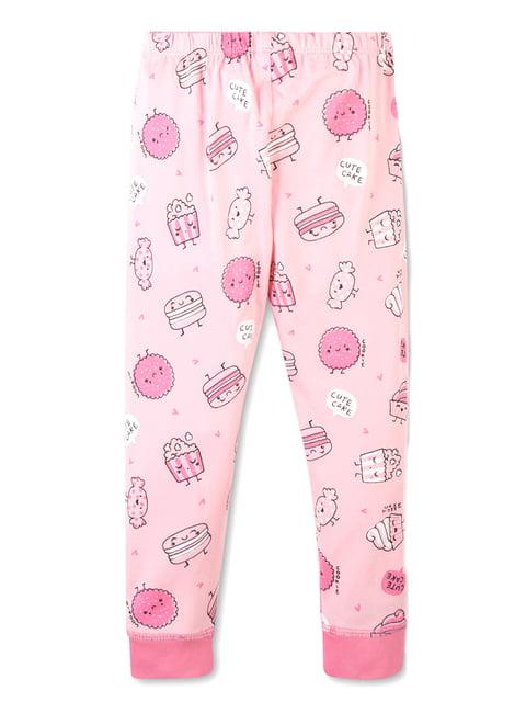 Штани для сну рожеві в принт C&A 5179450