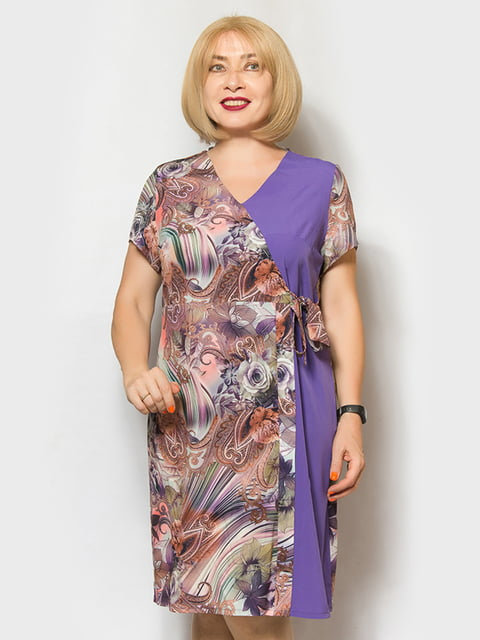 Платье голубое с принтом LibeAmore 5158757