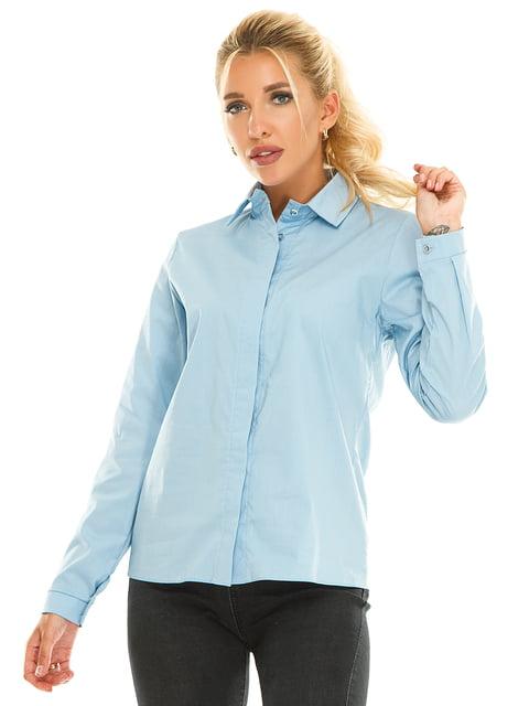 Рубашка голубая Exclusive. 5181211
