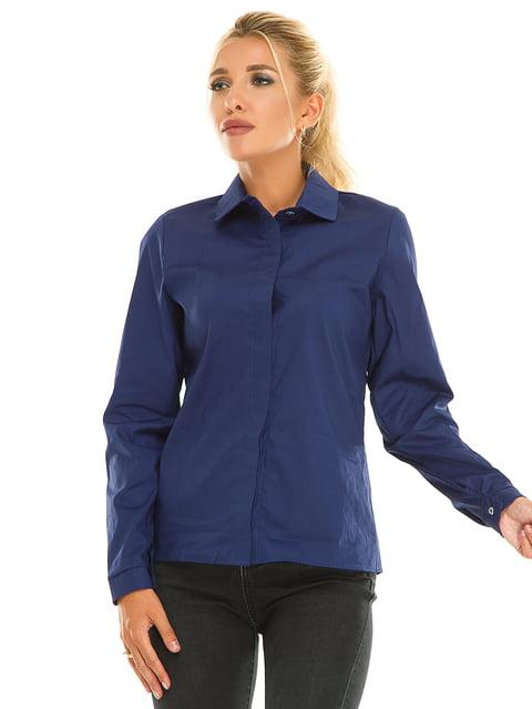 Сорочка темно-синя Exclusive. 5181214