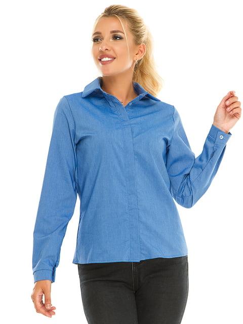 Рубашка василькового цвета Exclusive. 5181215