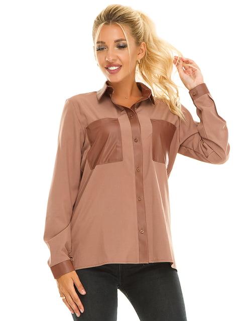 Рубашка бежевая Exclusive. 5181235