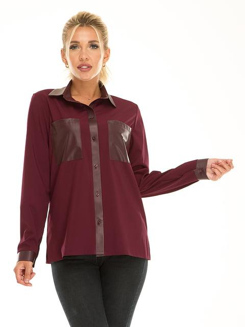 Рубашка сливового цвета Exclusive. 5181236