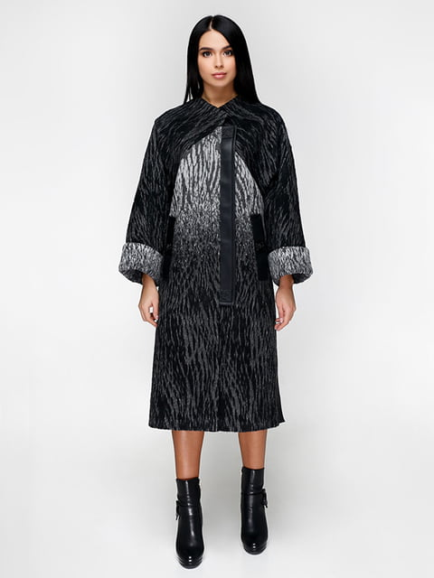 Пальто черное Favoritti 5179086