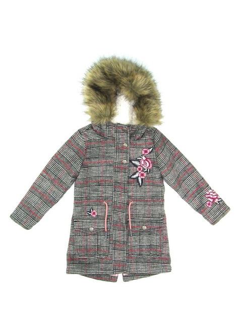 Пальто серое в клетку S.Oliver 5177114