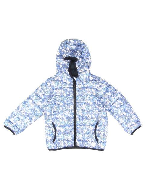 Куртка блакитна в принт S.Oliver 5182872