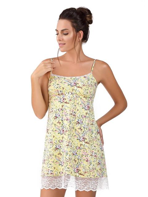 Рубашка ночная желтая Ellen 5182944