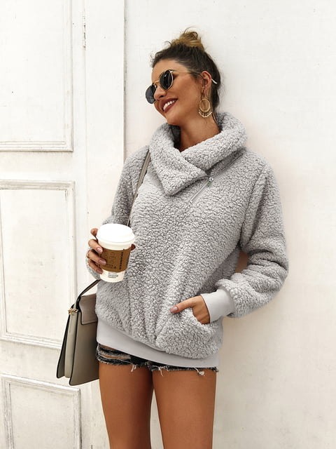 Пуловер серый Luna Tuccini 5183063