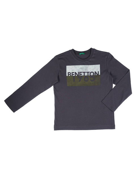Лонгслив темно-серый Benetton 5151103