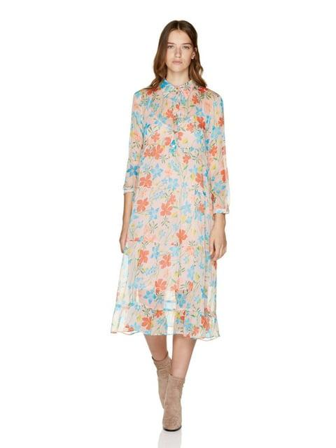 Сукня рожеве з квітковим принтом Benetton 5165327