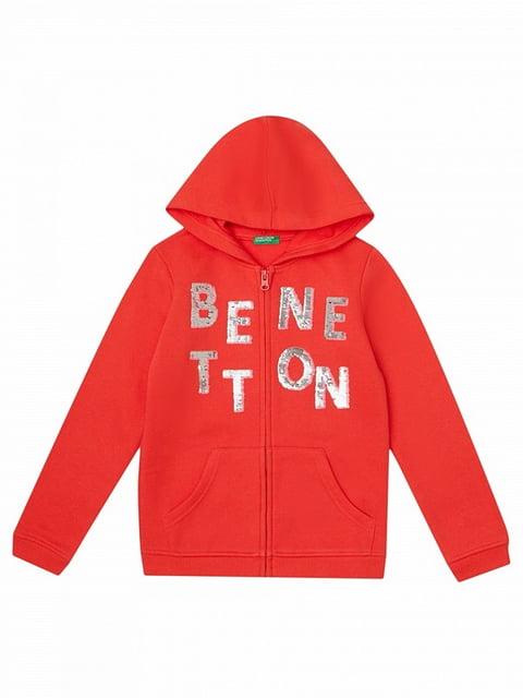 Толстовка червона Benetton 5183882