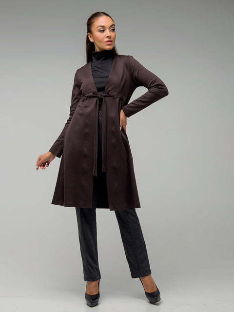 Кардиган шоколадного цвета First Land Fashion 5185514