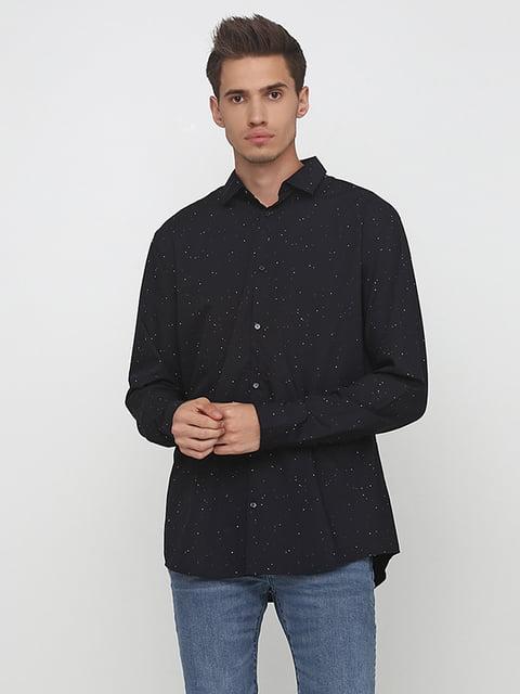 Рубашка черная в горошек H&M 5176618