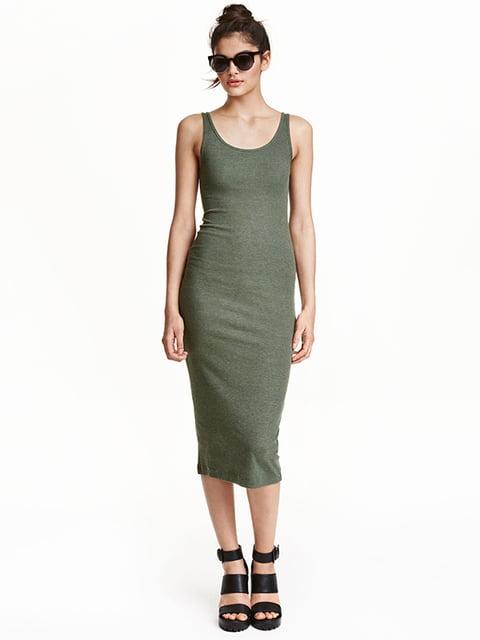 Платье цвета хаки H&M 5184990