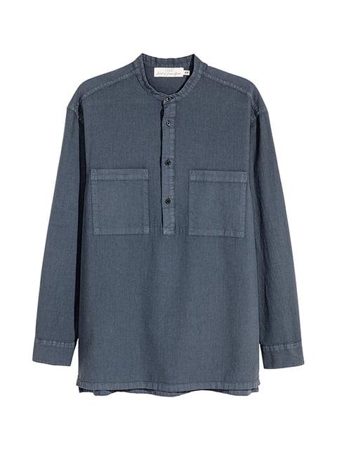 Рубашка синяя H&M 5185127