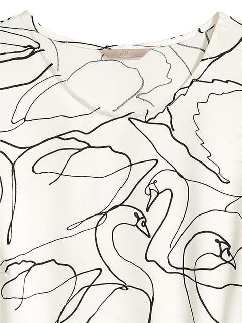 Платье молочного цвета в принт H&M 5185193
