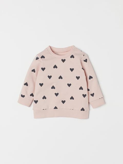 Світшот рожевий в принт H&M 5186486