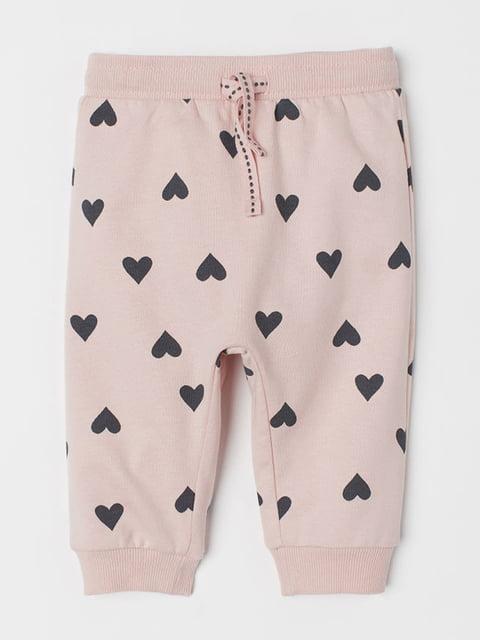 Штани рожеві з принтом H&M 5186820