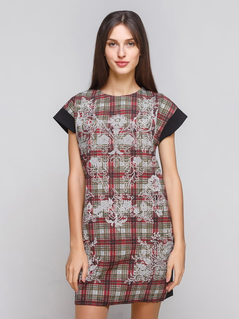 Сукня чорна з принтом Zara 4877792