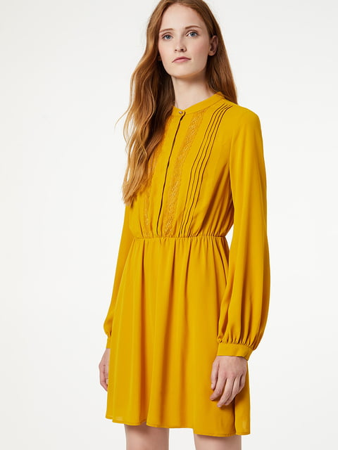 Сукня гірчичного кольору Liu Jo 5181378