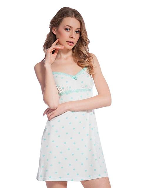 Ночная рубашка белая в горошек Ellen 5182930