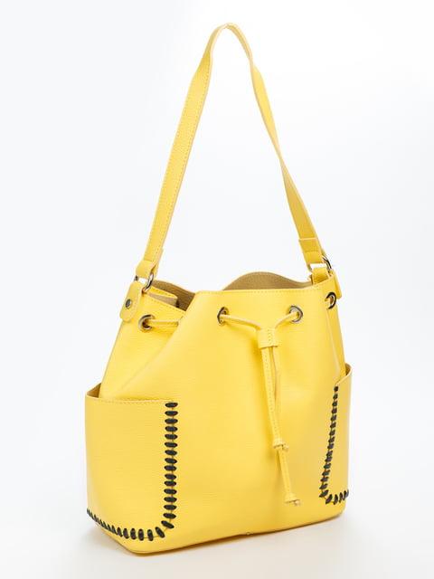 Сумка жовта Amelie Pelletteria 4645979