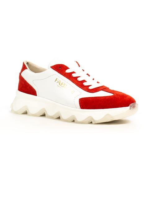 Кроссовки красно-белые Fabiani 5183090