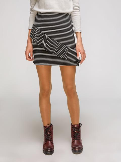 Юбка черная в полоску Zara 3910986