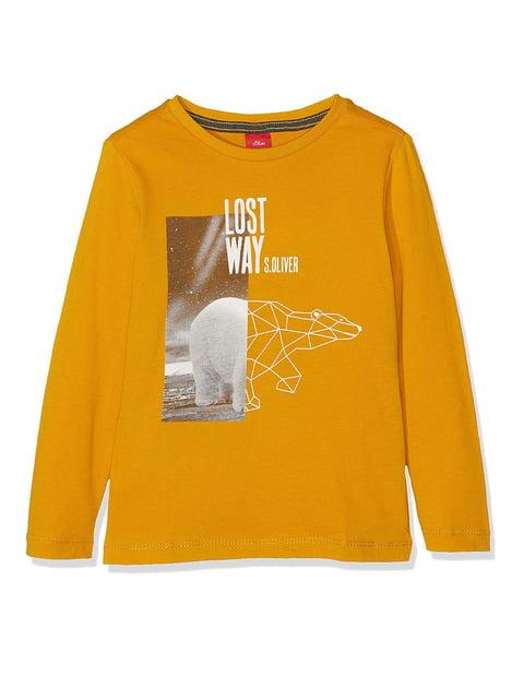 Лонгслив желтый S.Oliver 5195961