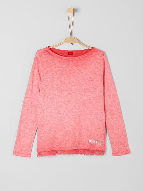 Лонгслив розовый S.Oliver 5195996