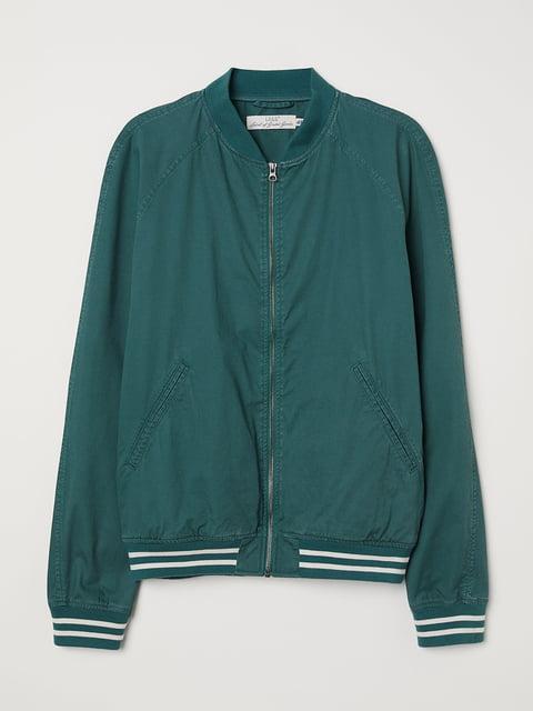 Бомбер зелений H&M 5187901