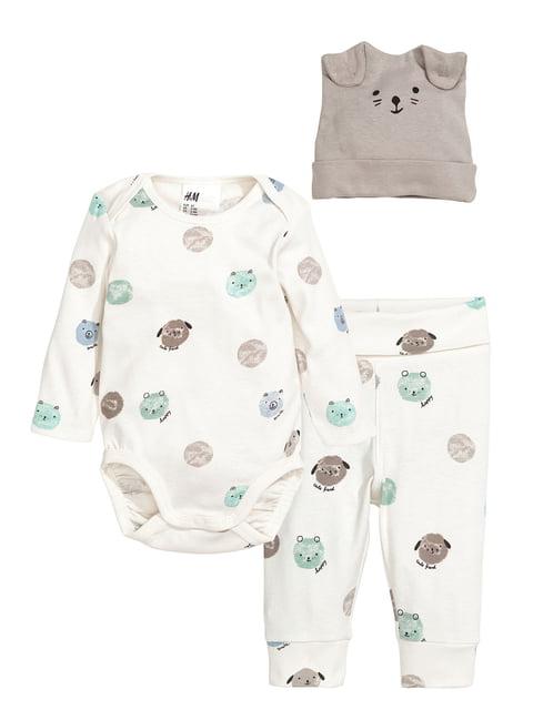 Комплект: боді, штани та шапка H&M 5197078