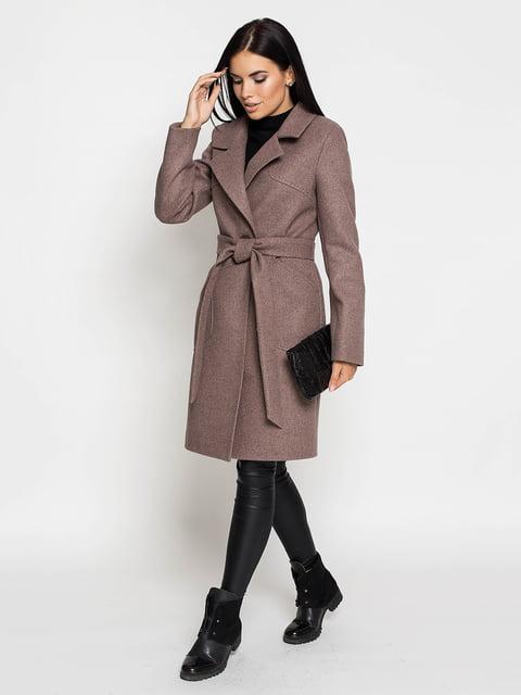 Пальто кольору капучіно Leo Pride 5197862