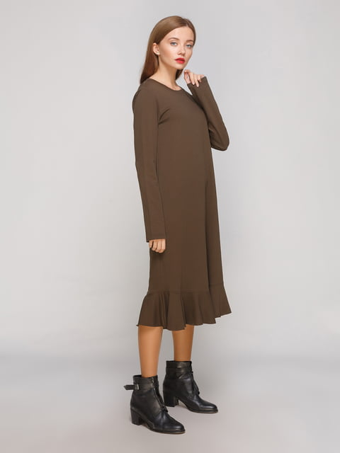 Сукня кольору хакі Zara 3270398