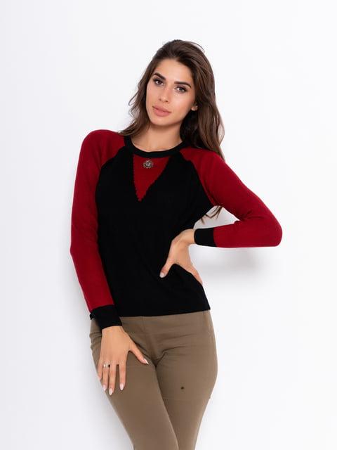 Джемпер черно-красный Magnet 5200658
