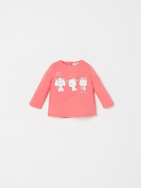 Лонгслів рожевий із принтом Oviesse 5149161