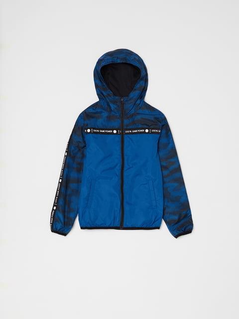Куртка синяя в принт Oviesse 5166687