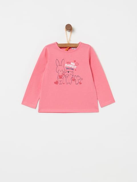 Лонгслів рожевий із принтом Oviesse 5166762