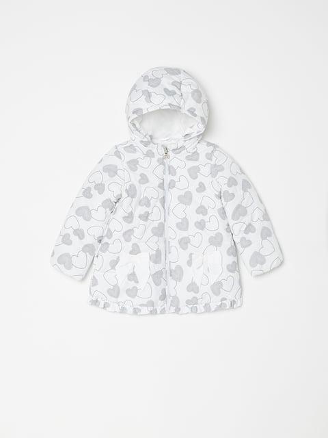 Куртка біла в принт Oviesse 5174030