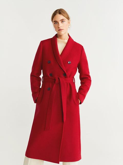 Пальто червоне Mango 5188501