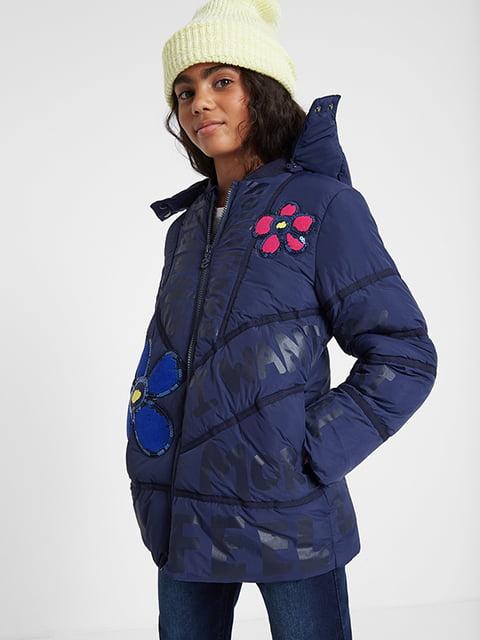 Куртка синя з принтом Desigual 5185568