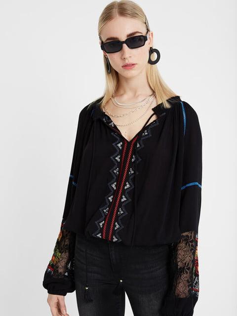 Блуза чорна Desigual 5185586