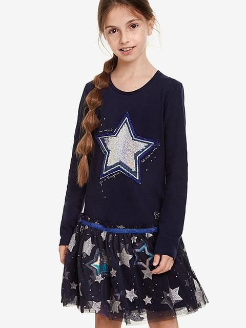 Сукня синя в принт Desigual 5196442