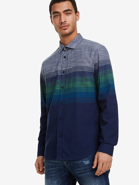 Сорочка синя в принт Desigual 5196443