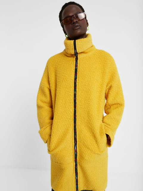 Пальто жовте Desigual 5196461
