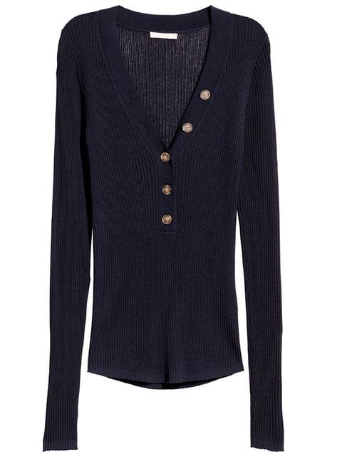 Пуловер темно-синий H&M 5197535