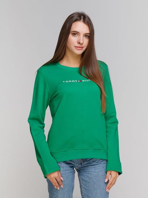 Світшот зелений Tommy Hilfiger 5201526
