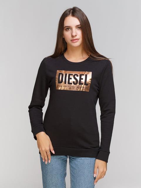 Світшот чорний з принтом Diesel 5201541