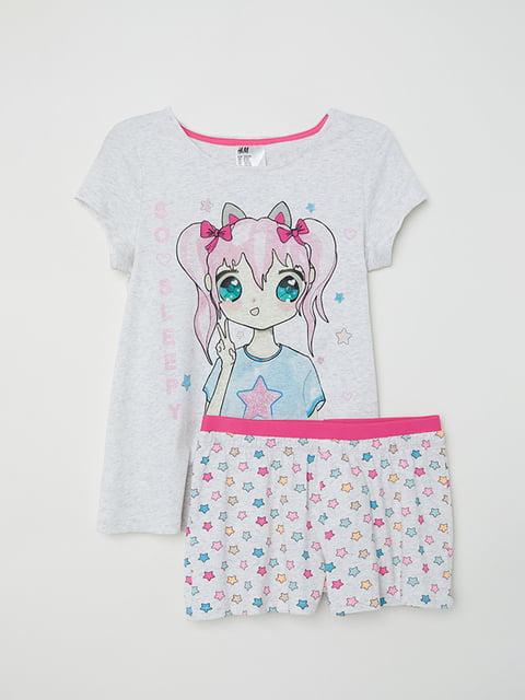 Піжама: футболка і шорти H&M 5203907