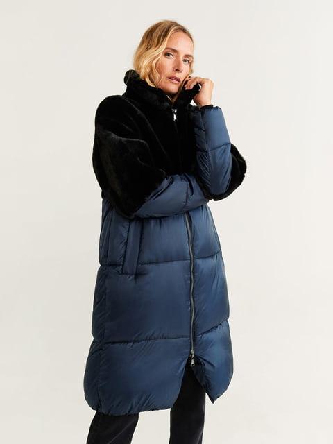 Куртка чорно-синя Mango 5201628